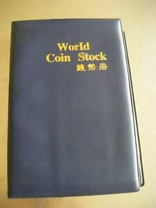 WORLD COIN STOCK BLUE COIN COLLECTOR'S FOLDER ALBUM