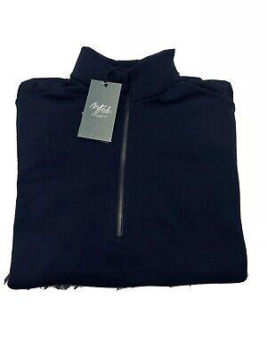 Aztech Mountain Men Jackpot Pullover Fleece Jacket 1/2 Zip Midnight Blue Size M