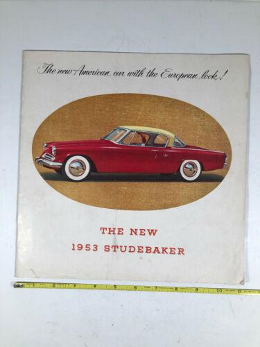 The New 1953 Studebaker Dealer Sales Brochure Original