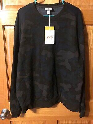 NWT 3.1 Phillip Lim Men's Blue Brown Camo Long Sleeve Crewneck Sweatshirt XL
