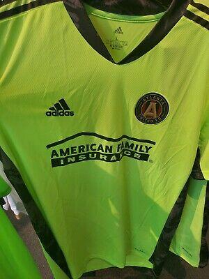 NWT Adidas 2020 GK Atlanta United FC Soccer Jersey Green Size Large. MLS Kit image
