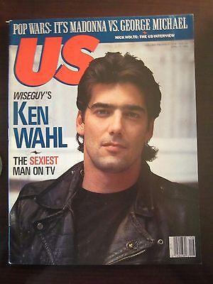 Us Magazine Ken Wahl Wiseguy April 1989 Newsstand No Label  F