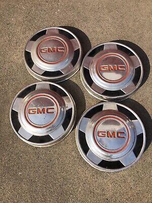 VINTAGE GMC PICKUP TRUCK VANDURA VAN HUBCAPS  WHEEL COVERS CENTER CAPS 1/2
