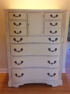 Antique French Provincial Tall Dresser