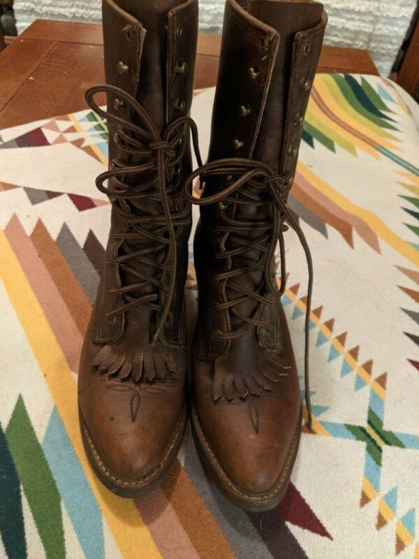 Ariat Heritage Lacer Roper Boots Kiltey Sz 8.5 Gorgeous EUC