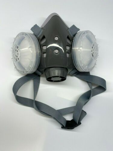 New Respirator Half Face Mask Dual Filter - Ships Priority from USA