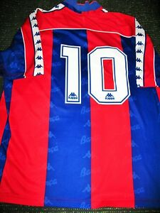 cd7cf066100 Romario Kappa Barcelona Jersey 1994 1995 Shirt Camiseta Trikot Maglia  Brazil XL