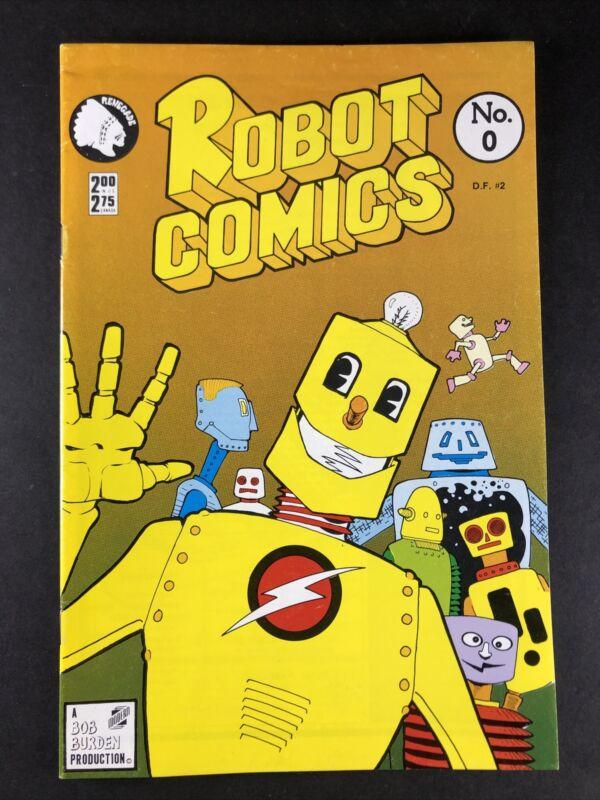 SIGNED Robot Comics #0 Renegade Press AUTOGRAPHED By Bob Burden 1987 FN