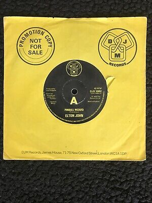 Elton John - Pinball Wizard / Harmony 7'' Vinyl DJM DJS 10652 1975 1st Press EX