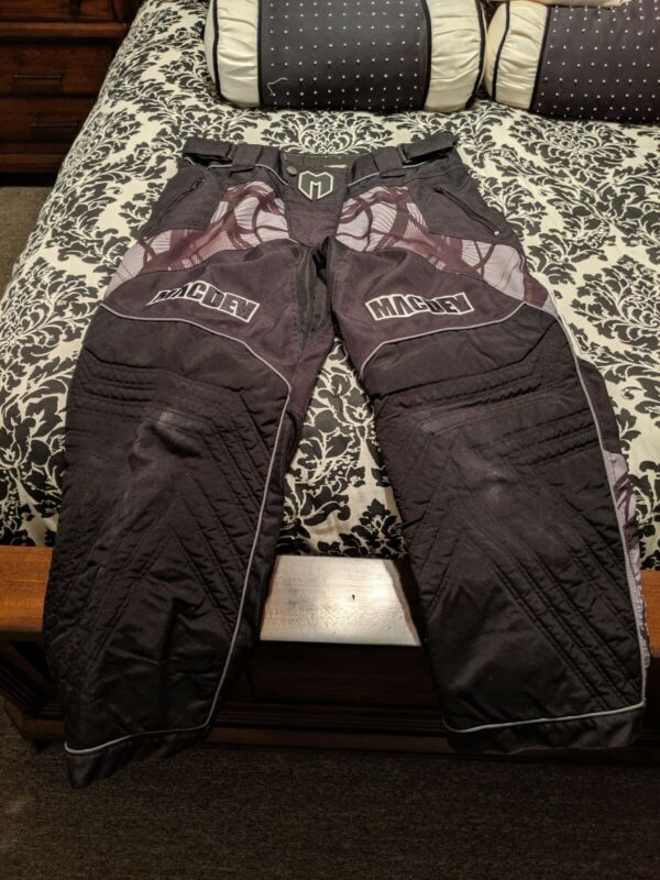 Mac Dev Paintball Padded Pants Black/grey Size large