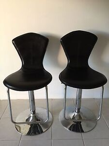 Black Leather Bar Stools. Dianella Stirling Area Preview