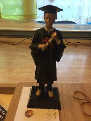 A Wooden Figure Of A Male Scholar Painted 23 Cm Highl Hey teacher