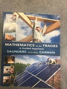 Mathematics for the trades textbook