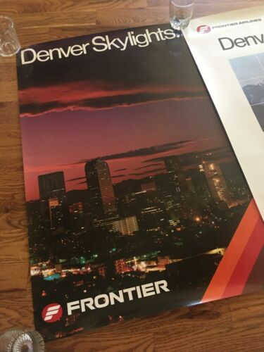 Frontier Airlines 1980s Denver travel posters