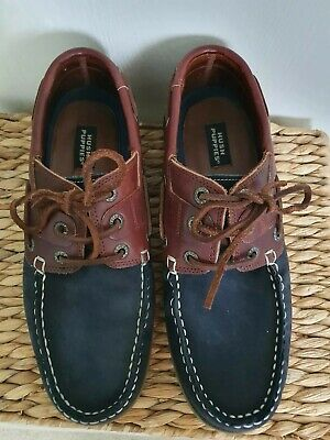 Mens Hush Puppies Moccasins Suede And Leather Size 10 BNWOB