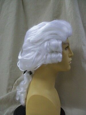 White Court Wig King Louis Colonial Era Old Vampire Powder Look Monarch French (King Wig)