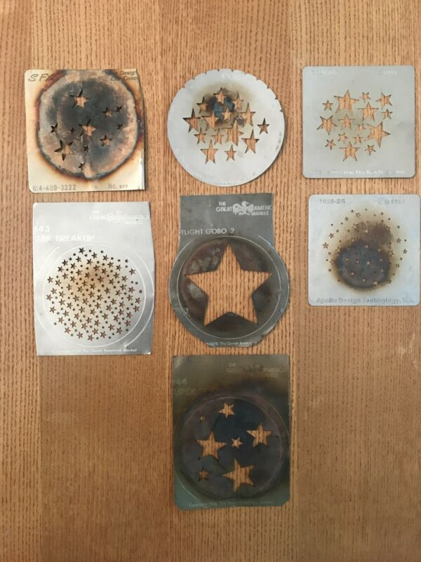 7- Rosco SFX GAM Apollo Various Star Gobo Patterns Stars A And B Size