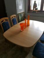 Tischgruppe (4 Stühle) * helles Holz(Buche) Thüringen - Friedrichroda Vorschau