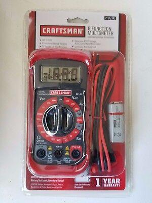 Craftsman Digital Multimeter W Battery Volt Ac Dc Tester Meter Voltmeter Ohmeter
