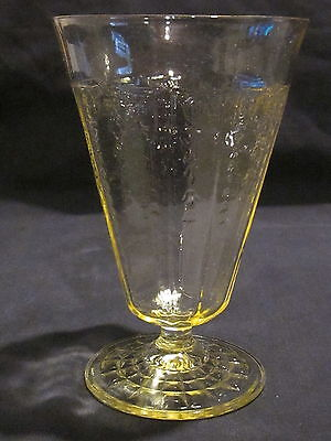 Hocking Glass Princess Topaz Tumblers (4)