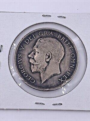 1915 British Silver 1/2 Crown George V
