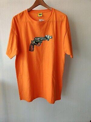 IGGY DSM Dover Street Market New York Orange Shirt Size Large Gun Control