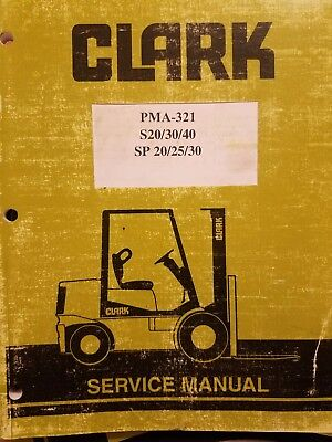 Clark Pma-321 Series Forklift Service Manual