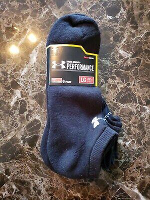 Under Armour UA HeatGear Socks NO SHOW 6 Pair Black