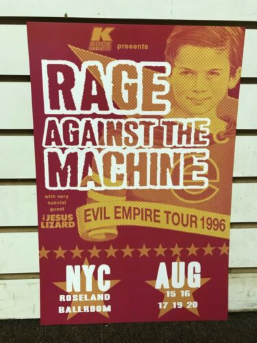 Rage Against the Machine 1996 New York City Evil Empire Concert Poster 12x18