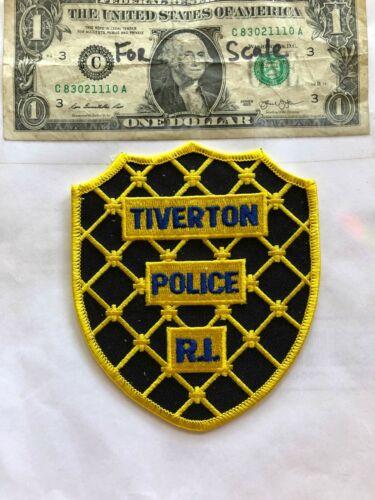 Tiverton Rhode Island Police Patch in great shape