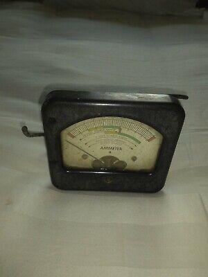 Vintage Dc Amperes Meter 12 Volt 6 Volt Display Garage Art Man Cave