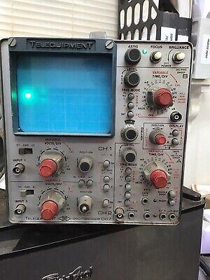 Vintage Telequipment D67 Oscilloscope Circa 1980