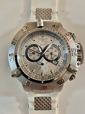Invicta Men's Subaqua Noma III 1384 Watch Chronograph White Silver Swiss Made