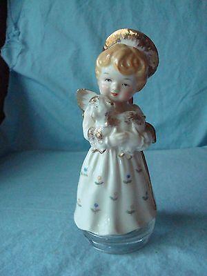 Vintage Ardalt Hand Painted Angel with Lamb Figurine