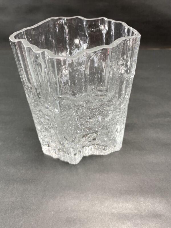 Signed Tapio Wirkkala Ittala Iceberg Vase Scandinavian  Mid Century Finland