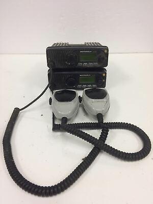 Lot Of 2 Motorola Xtl1500 800mhz P25 Radio M28urs9pw1an Radio Wmic Hmn1090c