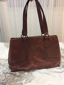 Nine West big brown bag leather like new