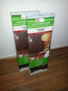 x2 Dark Brown Timber Venetian Blinds (Brand New) Gawler Gawler Area Preview