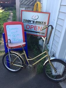 Retro bmx, banana seat, Folding bike 60's bicycle