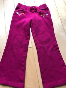 Gymboree fuchsia flower track pants size 5
