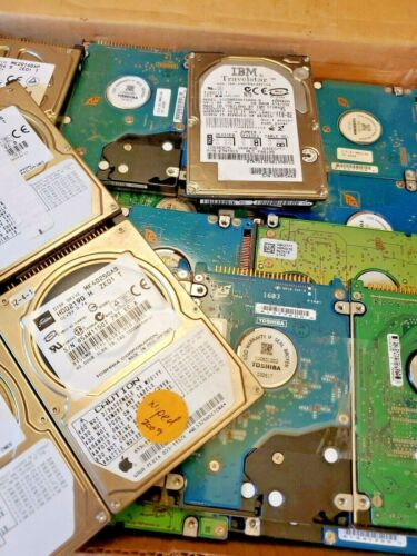 Hard Drives, Original Brands Scsi Used Untested Gold Precious Metal Recovery