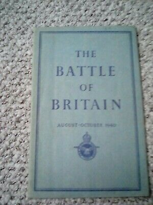 IWorld war two booklet The Battle of Britain August - October 1940 published 194
