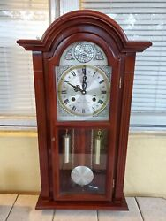 Vintage Wall Clock Waltham Tempus Fugit 31 Day Gong Chime 26 x 12 Key Wind
