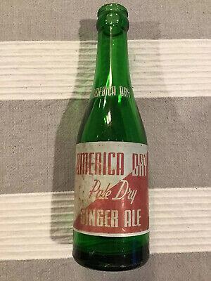 American Dry Green ACL Soda Bottle American Dry Bottling Long Island City, NY