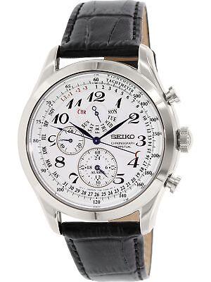 Seiko Men's SPC131 Silver Leather Quartz Fashion Watch