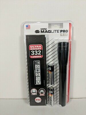 Maglite Mini PRO LED 2-Cell AA Flashlight with Holster Black/red/blue/gray