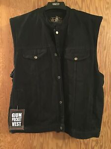 Biker Edge Gun Pocket Vests 2xl and 3xl