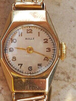 9ct Gold Ladies Timepiece Rolls