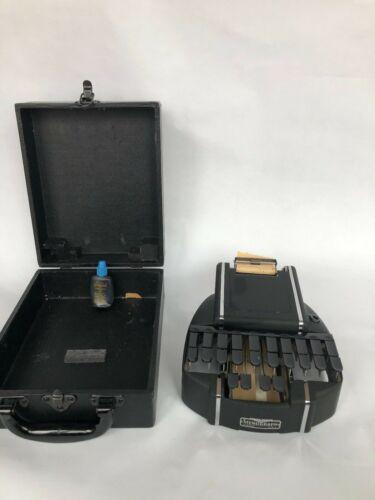 Vintage Stenographic Machine Stenograph Chicago STANDARD MODEL W/Case Pre 1975