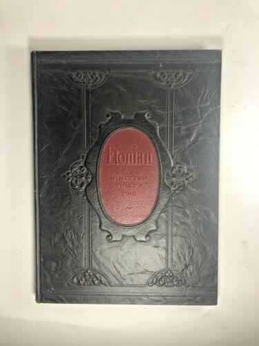 1932 The Etonian Elizabethtown College Pennsylvania Unsigned VintageYearbook